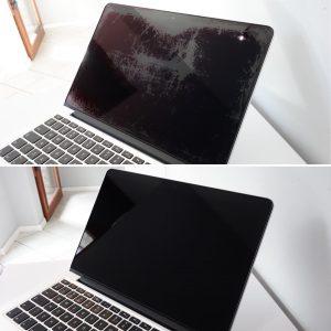 MacBook Pro Retina usuwanie powłoki antyrefleksyjnej